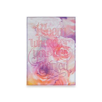 "Graham & Brown ""Bloom Wherever You Are Planted"" Canvas Wall Art"