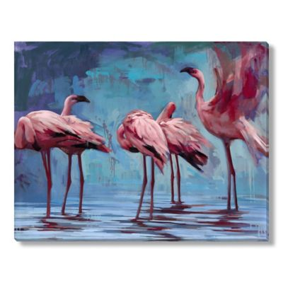 Katherine Fraser Flamingos Gather Gallery Wrapped Canvas Art