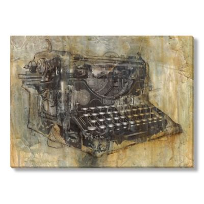 """Typewriter"" Canvas Wall Art"