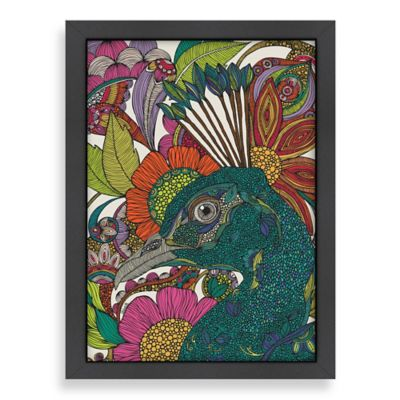 Americanflat Valentina Ramos Alexis and the Flowers Digital Print Wall Art with Black Frame