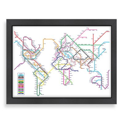 Americanflat Art Pause City Map 2 Wall Art