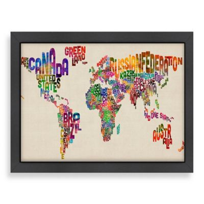 World Map Word Wall Art