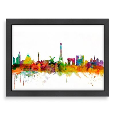 Art Pause Paris Colored Skyline Wall Art
