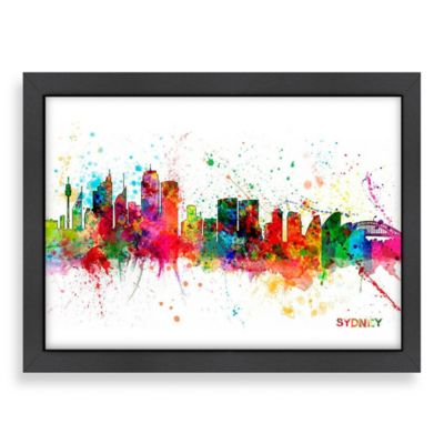 Art Pause Sydney Colored Skyline Wall Art