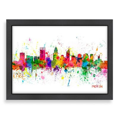 Americanflat Art Pause Perth Colored Skyline Wall Art
