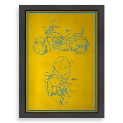 Americanflat Motorcycle Blueprint Wall Art
