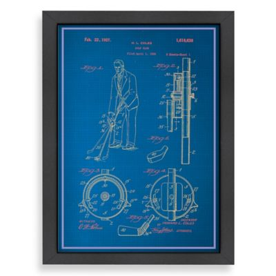Americanflat Adjustable Golf Club Blueprint Wall Art