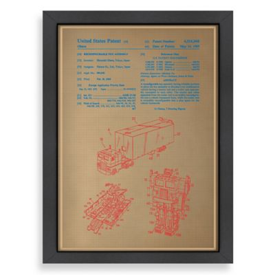 Americanflat Optimus Prime Blue Print Wall Art