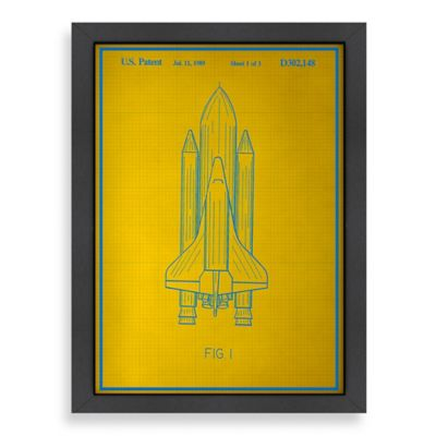 Americanflat Blue Print Space Shuttle Wall Art