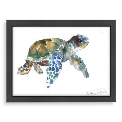 Tortoise Blue Framed Art