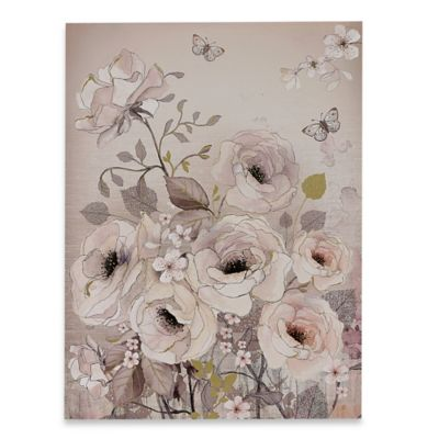 Watercolour Bloom Printed Canvas Wall Art