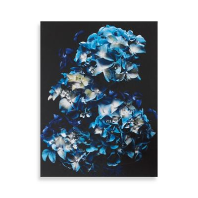 Blooms In Blue Canvas Wall Art