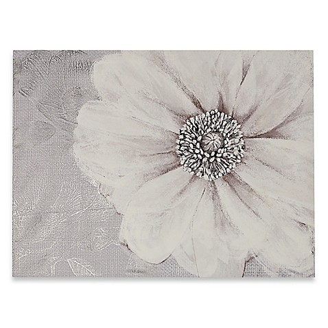 Grey Bloom Canvas Wall Art Bed Bath Amp Beyond