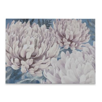 Teal Bloom Canvas Wall Art