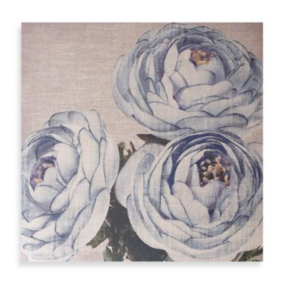 Teal Floral Trio Canvas Wall Art