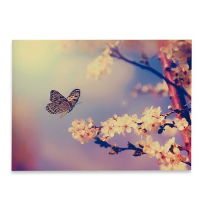 Butterfly Branch Printed Canvas Wall Art