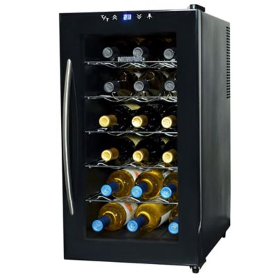 NewAir 18-Bottle Single-Zone Thermoelectric Wine Cooler in Black
