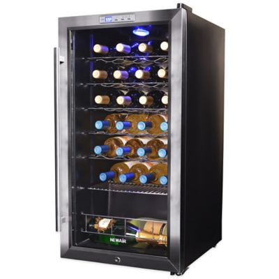 NewAir 27-Bottle Single-Zone Wine Cooler in Stainless Steel