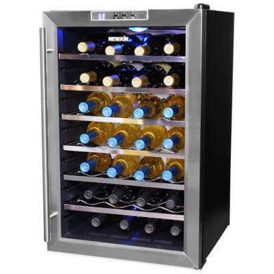 NewAir 28-Bottle Single-Zone Thermoelectric Wine Cooler in Stainless Steel