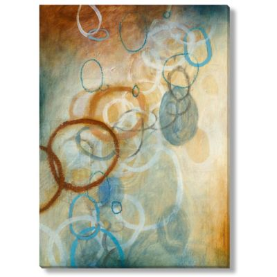 DeRosier Stratoscape Gold I Gallery Wrapped Canvas Art