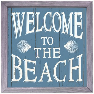 """Welcome to the Beach"" Box Sign"