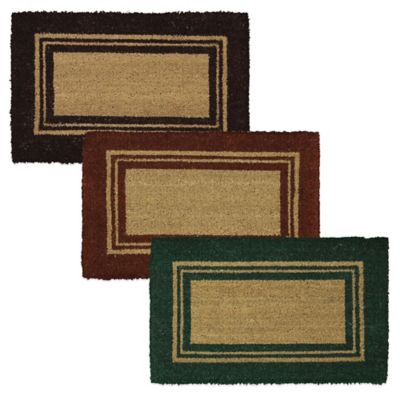 Mohawk Basic Border 18-Inch x 30-Inch Coir Door Mat in Chocolate