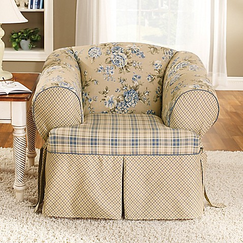 Buy Sure Fit 174 Lexington Chair Slipcover In Blue From Bed