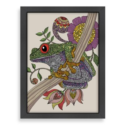 Americanflat Valentina Ramos Phileus Frog Digital Print Wall Art with Black Frame