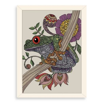 Americanflat Valentina Ramos Phileus Frog Digital Print Wall Art with White Frame