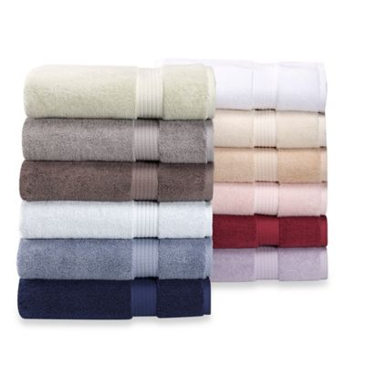 London Luxury Egyptian Artistry Bath Towel in White