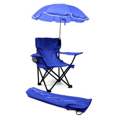 W.C. Redmon Kids' Camp Chair with Umbrella in Blue