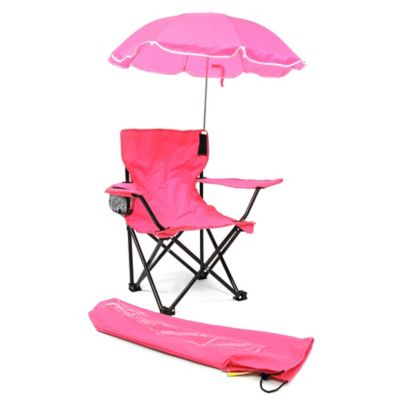 W.C. Redmon Kids' Camp Chair with Umbrella in Pink