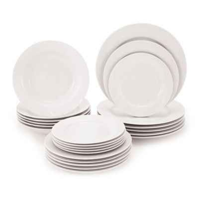 Maxwell & Williams White Basics Rim 24-Piece Dinnerware Set
