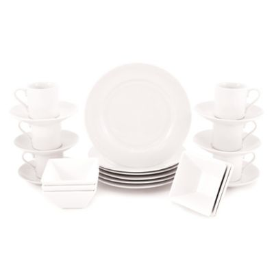 Maxwell & Williams™ White Basics Rim 24-Piece Cocktail Party Pack in White