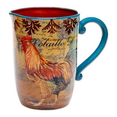 Certified International Rustic Rooster Pitcher