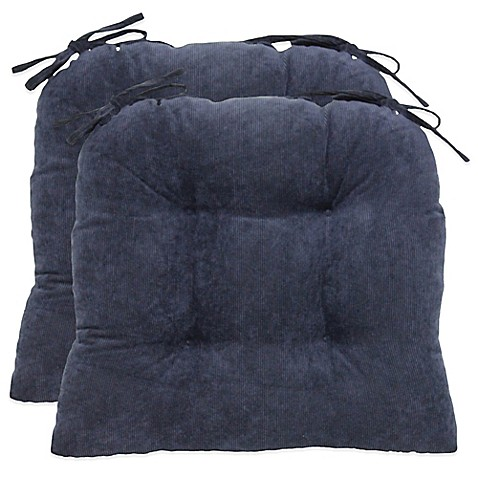 Buy Oversized Solid Corduroy Cushions In Blue Set Of 2