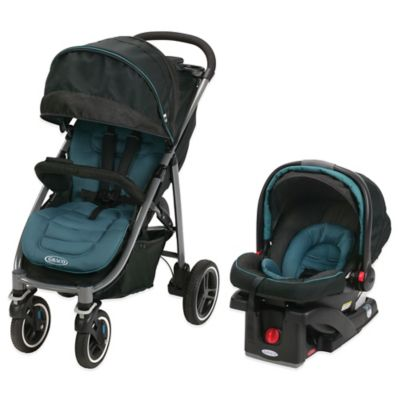 Teal Black Travel System