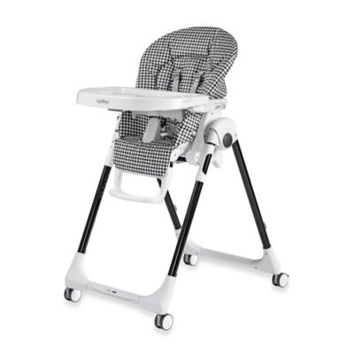 Peg Perego Prima Pappa Zero 3 High Chair in Gingham Black