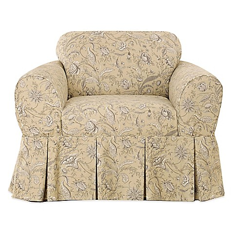 Sure Fit Fanciful Floral By Waverly Chair Slipcover