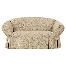 Sure Fit 174 Fanciful Floral By Waverly Loveseat Slipcover