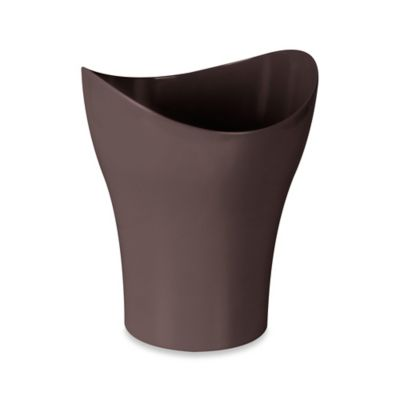 Umbra® Curvino Wastebasket in Chocolate