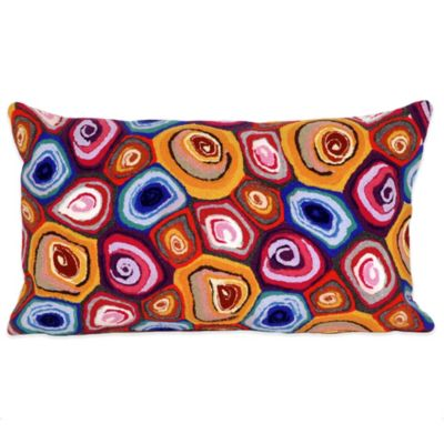 Liora Manne Murano Swirl 12-Inch x 20-Inch Outdoor Throw Pillow in Jewel