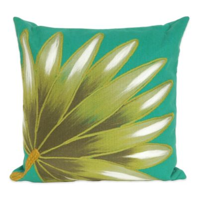 Liora Manne Palm Fan 20-Inch x 20-Inch Outdoor Throw Pillow in Teal