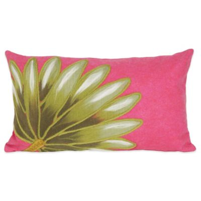 Liora Manne Palm Fan 12-Inch x 20-Inch Outdoor Throw Pillow in Hot Pink