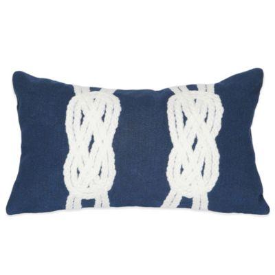 Navy Outdoor Throw Pillows