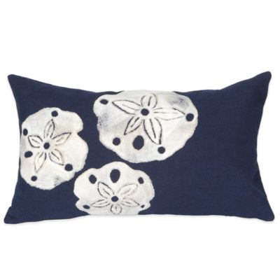 Liora Manne Sand Dollar 12-Inch x 20-Inch Outdoor Throw Pillow in Navy