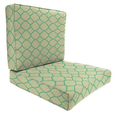 Sunbrella® 45-Inch x 25-Inch 2-Piece Deep Seat Chair Cushion in Accord Jade