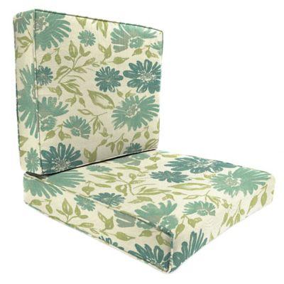 Sunbrella® 45-Inch x 25-Inch 2-Piece Deep Seat Chair Cushion in Violetta Baltic
