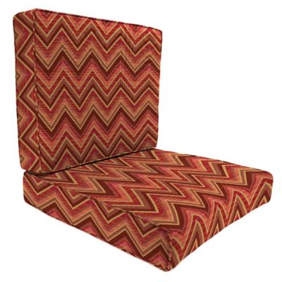 45-Inch x 25-Inch 2-Piece Deep Seat Chair Cushion in Sunbrella® Fischer Sunset