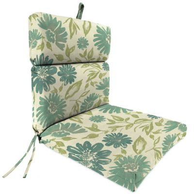 44-Inch x 22-Inch Dining Chair Cushion in Sunbrella® Violetta Baltic